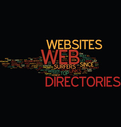 Are web directories any good text background word vector