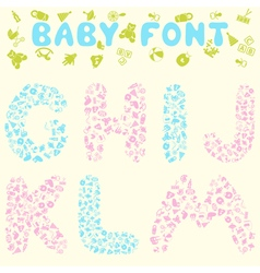 Baby font vector image