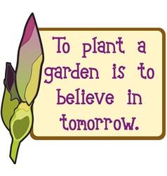 Believe in tomorrow vector