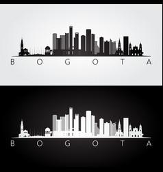 Bogota skyline and landmarks silhouette vector