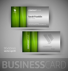 Business card template - vector image