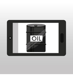 Business oil barrel smartphone vector