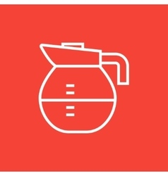 Carafe line icon vector