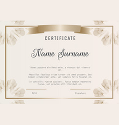 Certificate diploma template with vector