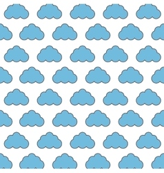Cloud pattern icon image vector