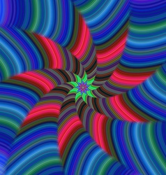 Colorful spiral stripe fractal design vector