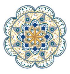 decorative floral round mandala vector image