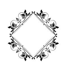 decorative frame vintage elegant flourish image vector image vector image