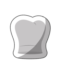 Dotted sticker of chefs hat shading and curved vector