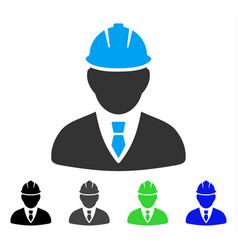 Engineer flat icon vector