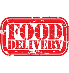 Food delivery stamp vector image vector image