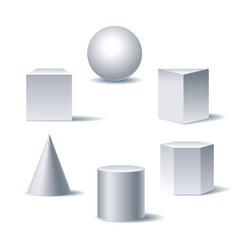 Geometric 3d figures vector