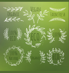 green labels set vector image vector image