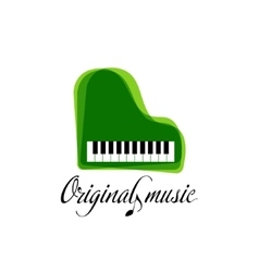Green music piano logo jazz logo color music vector