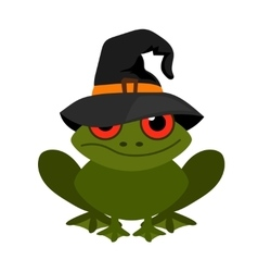 Halloween frog mascot on white background vector