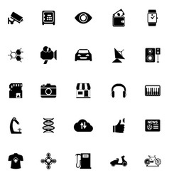 Hitechnology icons on white background vector