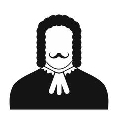 Judge black icon vector image vector image