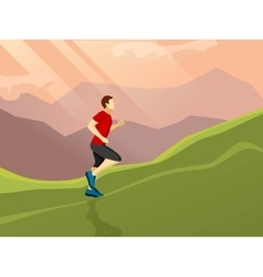 Man running flat icon vector