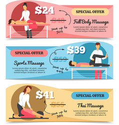 Massage And Health Care Banners vector image
