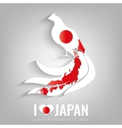 National japan symbol pheasant with an official vector