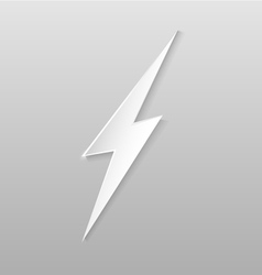 Origami lightning flat icon vector