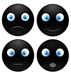 set black smile vector image