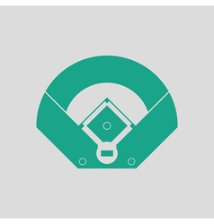 Baseball field aerial view icon vector