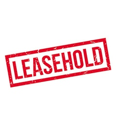 Leasehold rubber stamp vector