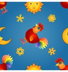 Red Rooster Seamless2 vector image