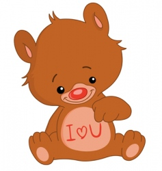 I love u bear vector image