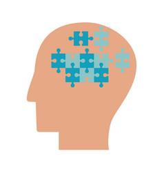 human head puzzle idea collaboration vector image