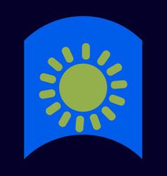 Flat icon design collection sun silhouette vector