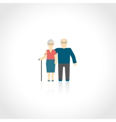 Senior couple flat vector