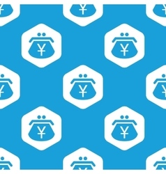 Yen purse hexagon pattern vector