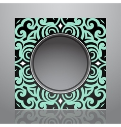 Retro frame design vector