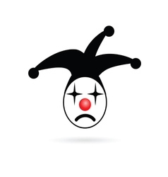 Jester head joker vector
