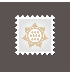 Sunflower stamp outline vector