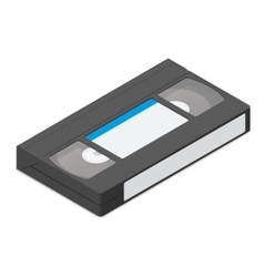 Video cassette detailed isometric icon vector