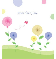 summer floral poster vector image