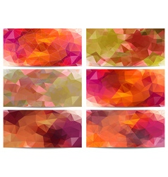 Abstract Triangular Background Set vector image