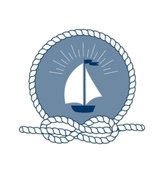 Marine symbol nautical design elements vector
