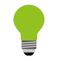 Bulb light green isolated icon design vector