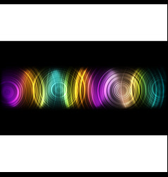 abstract technological colorful sound wave vector image vector image