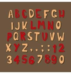 Christmas cartoon alphabet vector image