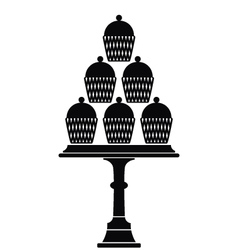 Cup cake stand vector