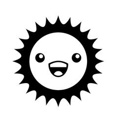 Cute sun kawaii character vector