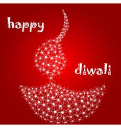 Diwali diva vector