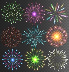 festive colorful firework salute burst on vector image