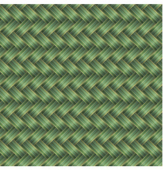 Green wicker seamless pattern vector