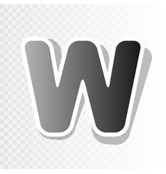 Letter w sign design template element new vector